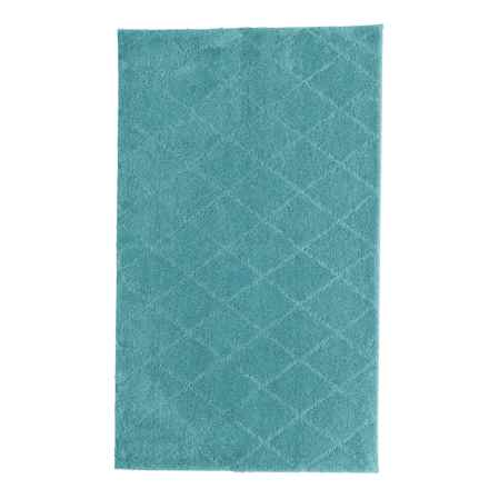 "Christy Drylon® Diamond Bath Rug - 25x45"" in Teal - Closeouts"