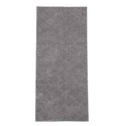 "Christy Drylon® Diamond Bath Rug - 25x60"" in Steel - Closeouts"