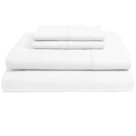 Christy Egyptian Cotton Sheet Set - Queen, 250 TC in White - Closeouts