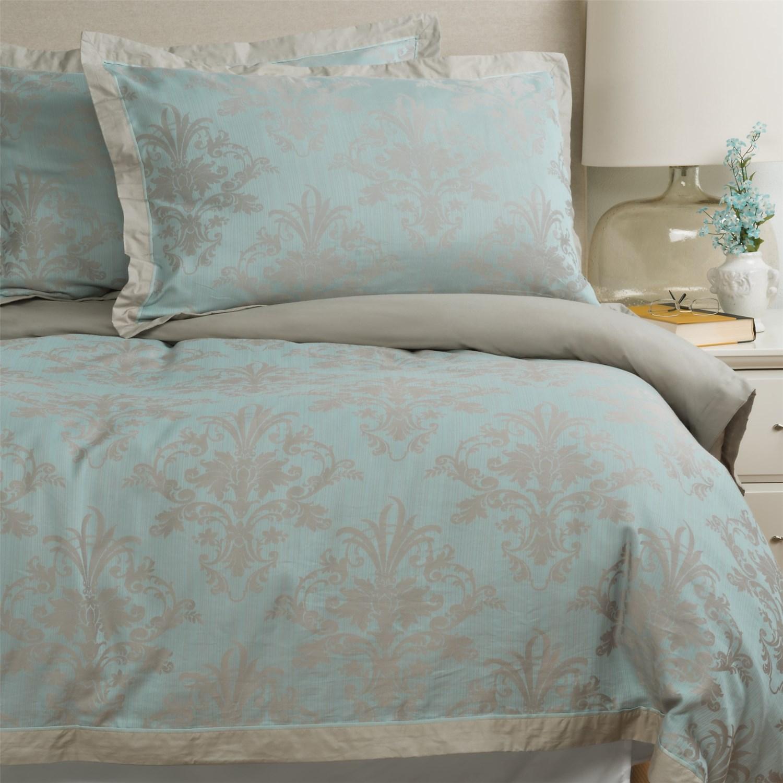 christy floral damask duvet cover queen 200 tc save 54. Black Bedroom Furniture Sets. Home Design Ideas