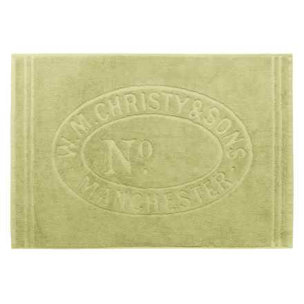 """Christy Heritage Sculpted Bath Mat - 24x35"""" in Green Tea - Closeouts"""