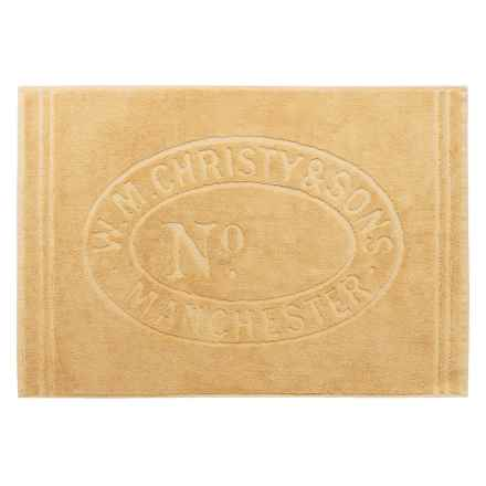 """Christy Heritage Sculpted Bath Mat - 24x35"""" in Honey - Closeouts"""