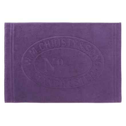 "Christy Heritage Sculpted Bath Mat - 24x35"" in Thistle - Closeouts"