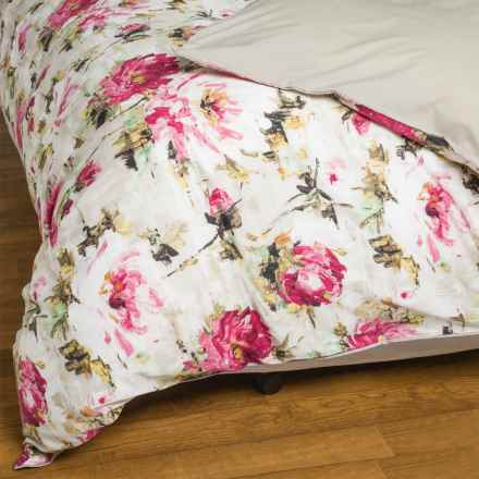 Christy Julianne Cotton Duvet Cover - 230 TC, Queen in Pink - Closeouts