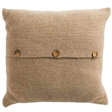 "Christy Karina Throw Pillow - 16x16"" in Dune - Closeouts"