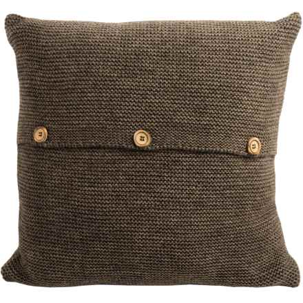 "Christy Karina Throw Pillow - 16x16"" in Espresso - Closeouts"