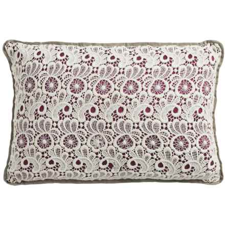 "Christy Lace Throw Pillow - 12x18"" in Plum - Closeouts"