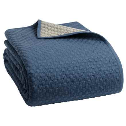 Christy Loops Collection Coverlet - King in Storm Blue - Closeouts