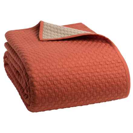 Christy Loops Collection Coverlet - Queen in Cinnamon - Closeouts