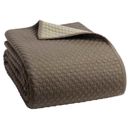 Christy Loops Collection Coverlet - Queen in Walnut - Closeouts