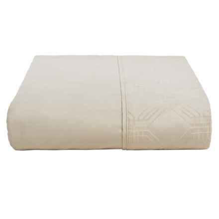 Christy Maddox Flat Sheet - Queen, 400 TC Cotton in Oyster - Closeouts