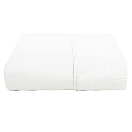 Christy Maddox Flat Sheet - Queen, 400 TC in White