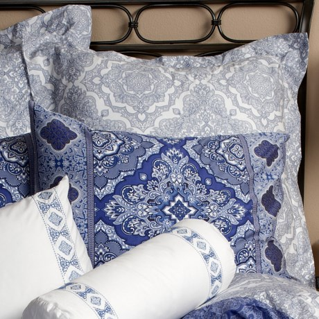 Christy Marrakesh Pillow Sham - 300 TC Cotton Sateen, Euro in Blue