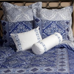 Christy Marrakesh Pillow Sham - 300 TC Cotton Sateen, King in Blue