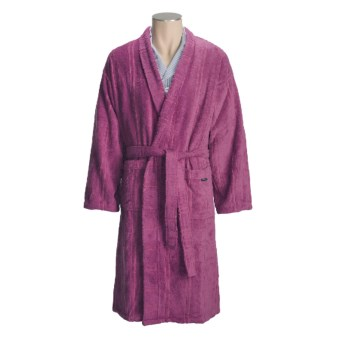 Christy Odyssey Cotton Terry Robe - Kimono Style (For Men and Women) in Pink
