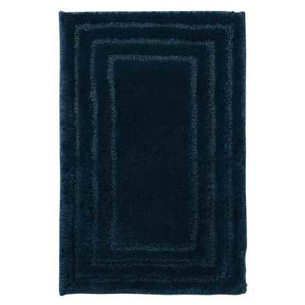 "Christy of England Christy Aerofil® Race Track Bath Rug - 17x25"" in Navy - Closeouts"
