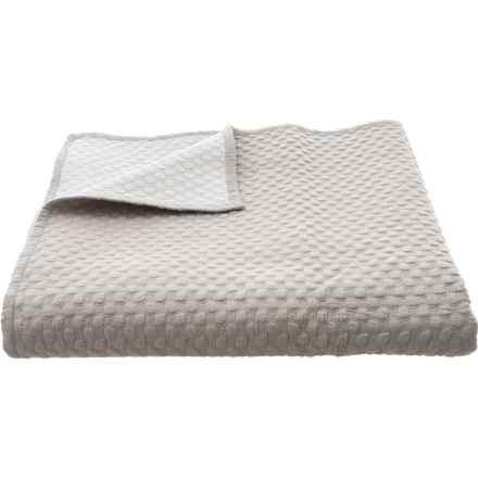 Christy of England Linen-Colored Cotton Loops Coverlet Blanket - Queen in Linen