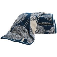 Christy Silhouette Bath Towel in Blue - Closeouts