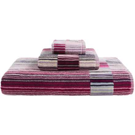 Christy Supreme Capsule Stripe Aqua Bath Towel in Berry - Closeouts