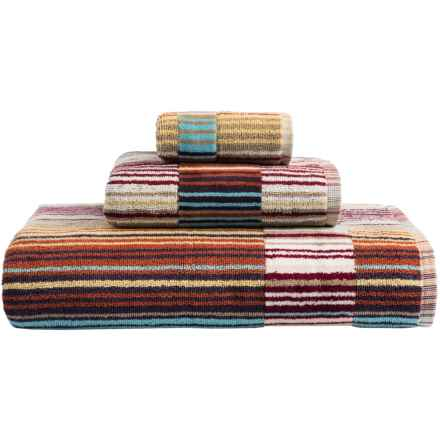 Christy Supreme Capsule Stripe Hand Towel in Spice - Closeouts