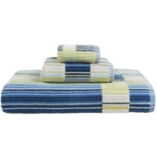 Christy Supreme Capsule Stripe Washcloth in Blue - Closeouts