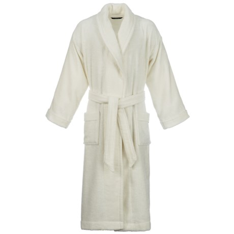 Christy Supreme Shawl Collar Robe - Supima® Cotton (For Men and Women) in Almond