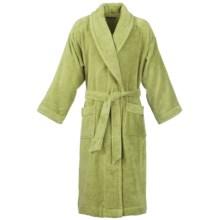 Christy Supreme Shawl Collar Robe - Supima® Cotton (For Men and Women) in Green Tea - Closeouts