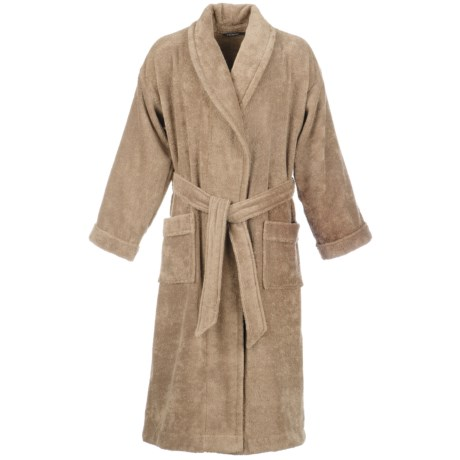 Christy Supreme Shawl Collar Robe - Supima® Cotton (For Men and Women) in Mocha