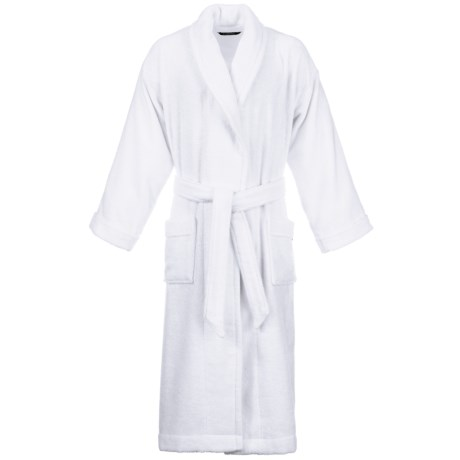 Christy Supreme Shawl Collar Robe - Supima® Cotton (For Men and Women) in White