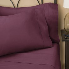 Christy Twill Sheet Set - King, 300 TC in Plum - Closeouts