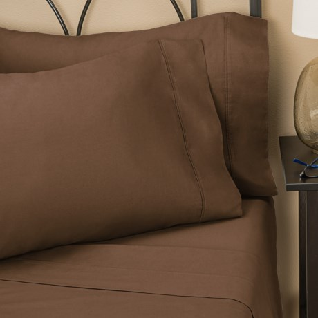 Christy Twill Sheet Sets - Queen, 300 TC in Brown