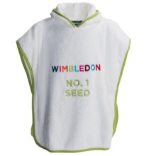 Christy Wimbledon 2014 Collection Seed USA Child's Towel Poncho in White - Closeouts