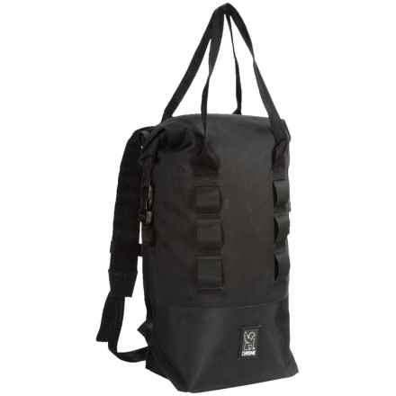 Chrome Industries Urban Ex Roll-Top 18 Backpack in Black/Black - Closeouts