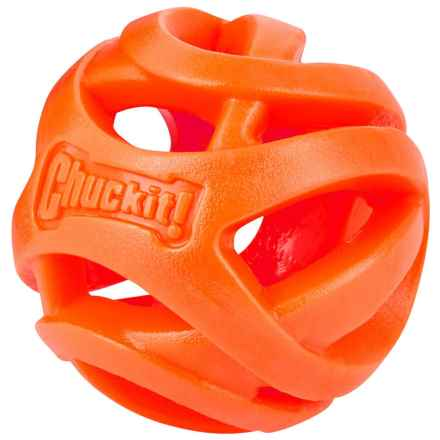 Chuckit! Breathe Right Fetch Ball Dog Toy - Large in Orange - Closeouts