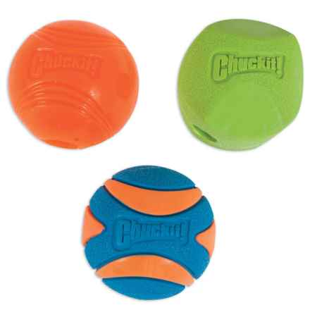 Chuckit! Fetch Medley 2 Balls - Medium, Set of 3 in Multi - Closeouts