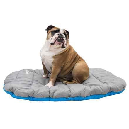 "Chuckit! Soft-Top Quilted Travel Dog Bed - 30x39"" in Blue/Grey - Closeouts"
