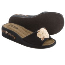 Cicciabella Support Slide Slippers (For Women) in Champagne & Roses - Closeouts