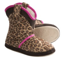 CicciaBella Young Riders Little Leopard Boots - Slippers (For Little Girls) in Leopard - Closeouts
