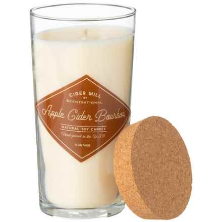 Cider Mill Apple Cider Bourbon Hand-Poured Soy Candle - 15.5 oz. in Cream - Closeouts