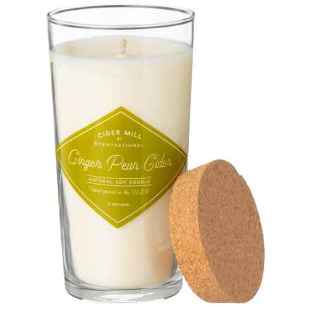 Cider Mill Ginger Pear Cider Hand-Poured Soy Candle - 15.5 oz. in Cream - Closeouts