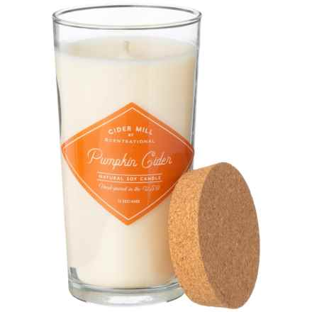 Cider Mill Pumpkin Cider Hand-Poured Soy Candle - 15.5 oz. in Cream - Closeouts
