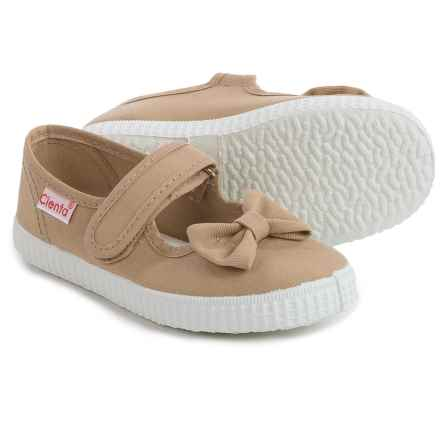 Cienta Canvas Mary Jane Shoes (For Toddlers and Little Girls) in Tan - Closeouts