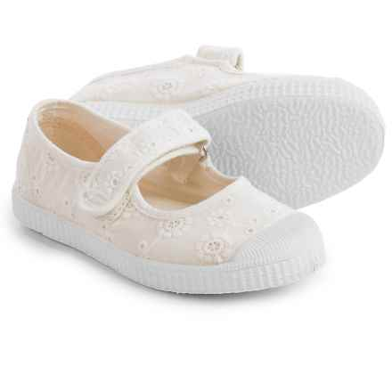 Cienta Eyelet Mary Jane Shoes (For Toddlers and Little Girls) in Off White - Closeouts