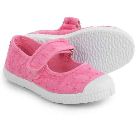 Cienta Eyelet Mary Jane Shoes (For Toddlers and Little Girls) in Pink - Closeouts