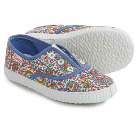 Cienta Floral Sneakers (For Toddlers and Little Girls) in Blue Floral - Closeouts