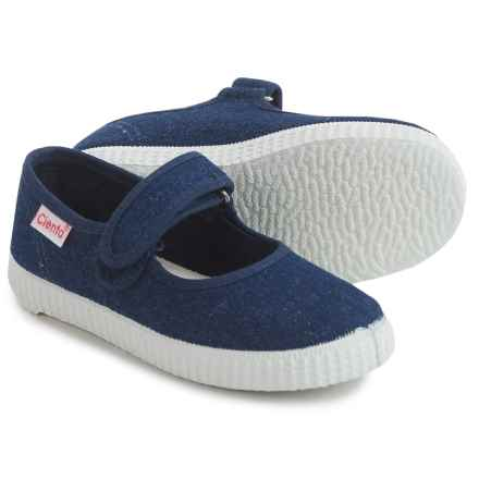 Cienta Mary Jane Shoes (For Toddlers and Little Girls) in Denim/White - Closeouts