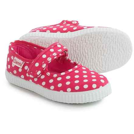 Cienta Polka-Dot Mary Jane Shoes (For Toddlers and Little Girls) in Fuschia - Closeouts