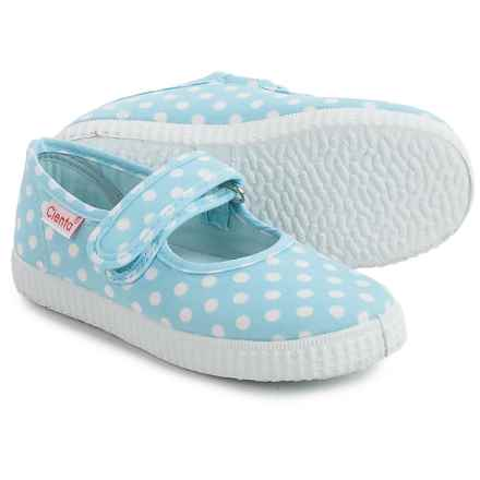 Cienta Polka-Dot Mary Jane Shoes (For Toddlers and Little Girls) in Sky Blue - Closeouts