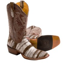 "Cinch 11"" Square Toe Cowboy Boots (For Women) in Sterling Streaked - Closeouts"