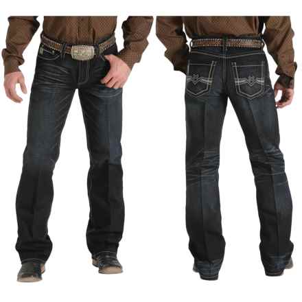 Cinch Grant Mid-Rise Jeans - Bootcut (For Men) in Antiqued Chevron Black - 2nds